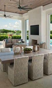 Transitional Lanai in 2020 | Lanai design, Florida home ...
