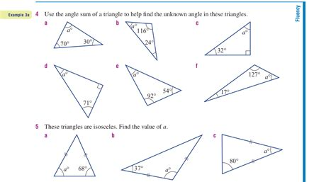 worksheets missing angles in triangles worksheet