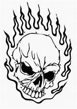 Skull Fire Drawing Coloring Pages Getdrawings sketch template