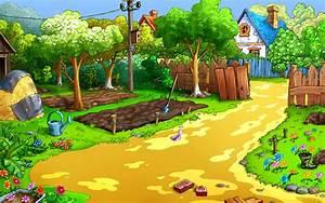 cartoon background wallpapersafari With katzennetz balkon mit garden games free