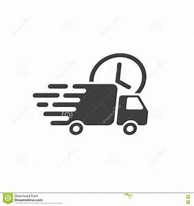 Delivery Truck Icon Vector, Fast Shipping Cargo Van ...
