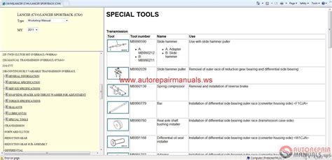 chilton car manuals free download 2011 mitsubishi lancer transmission control mitsubishi lancer 2011 and lancer sportback 2011 service manual auto repair manual forum