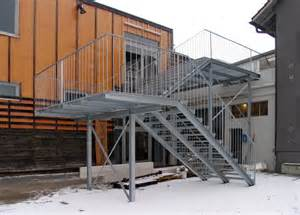 metall werk zürich ag fluchttreppe treppe eth zürich - Kleine Treppen