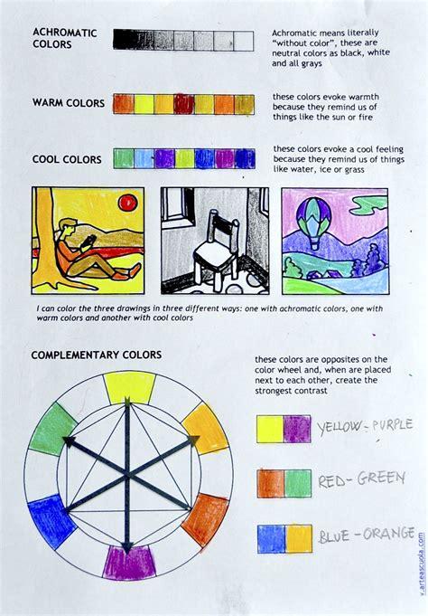 color theory worksheet color theory worksheet for students ideas