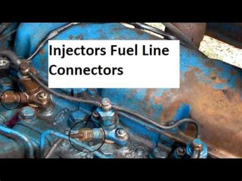 ford  tractor bleeding  fuel system youtube