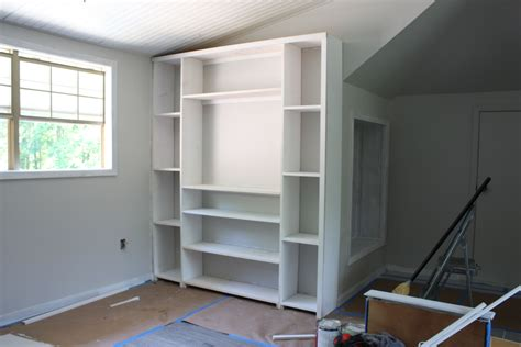 thin shelves ikea create built in shelving and cabinets on a budget
