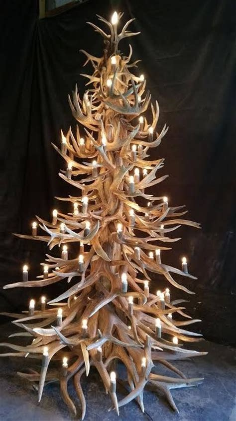 image result for deer antler christmas tree topper love