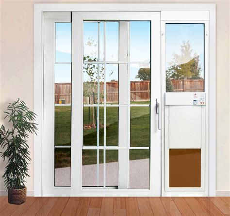 large power pet low e fully automatic patio door shorty