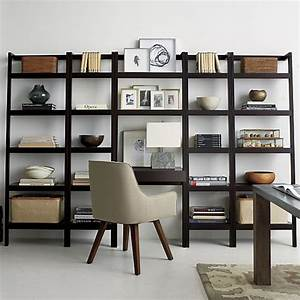 Sawyer mocha leaning 245quot bookcase crate and barrel for Kitchen cabinets lowes with crate and barrel wall art sale