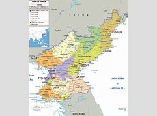 Maps of North Korea DPRK Detailed map of North Korea