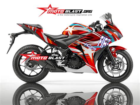 Modif Striping New Cb150r Hitam Merah by Modif Striping Yamaha R25 Black N New Fiat Motoblast