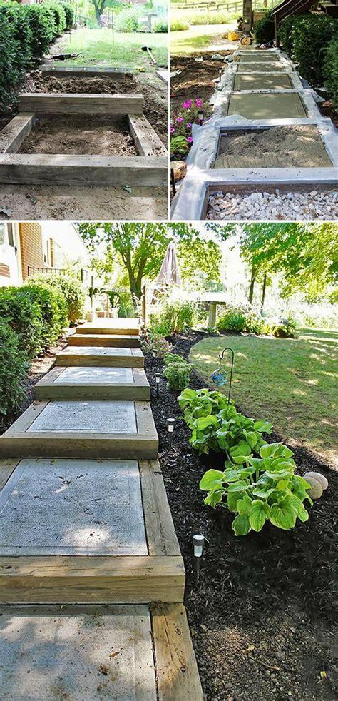 step  step diy garden steps outdoor stairs garden