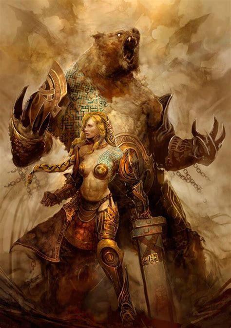 werebear fantasy art fantasy art women fantasy artwork