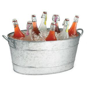 cooler tubs for drinks galvanized steel oval beverage tub 48 5x37x24cm