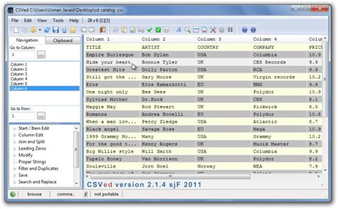 Csved Is 'swiss Army Knife' File Editor For Csv And Other
