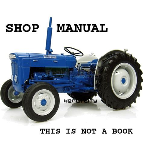 fordson tractor  super dexta service manual ford  sale