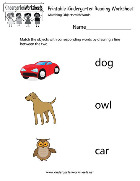 printable kindergarten reading worksheet ingleses