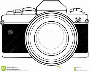 Vintage 35mm Camera stock illustration. Illustration of ...