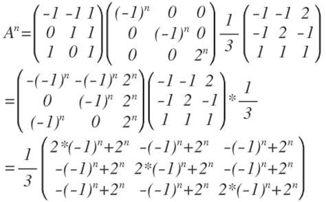 matrix potenzieren allgemeine formel fuer  basis aus