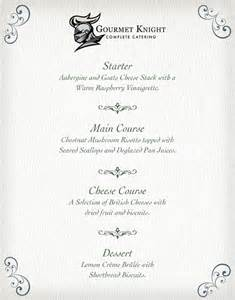 Summer Wedding Dinner Menu Ideas
