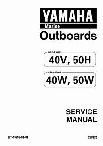 Yamaha 6hp Outboard Motor Owners Manual