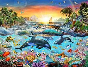 Orca Paradise Digital Art by Adrian Chesterman