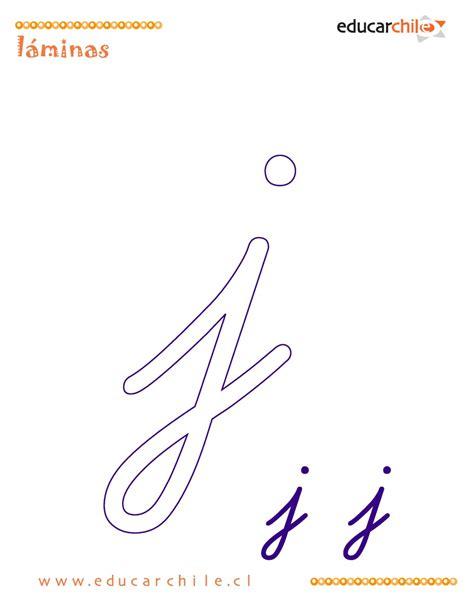 Abecedario Letra J