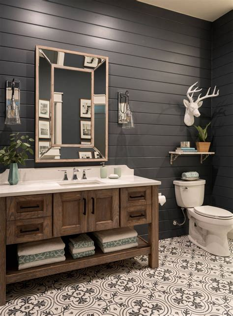 Rustic Modern Bathroom Vanities by Studio Steidley Bathroom Lake House Bathroom