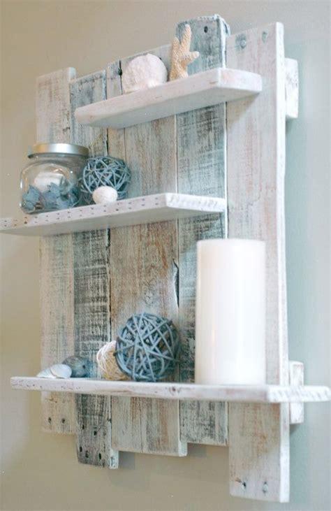 white pallet wood shelf wall decor white
