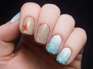 Beach vacation nails beauty and the chalkboard nail art