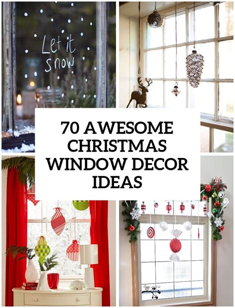 70 awesome christmas window d 233 cor ideas digsdigs