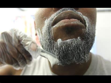 perm   face   straighten  beard  black