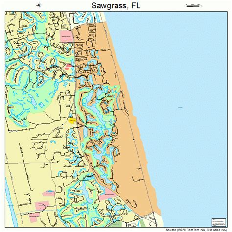 sawgrass florida street map