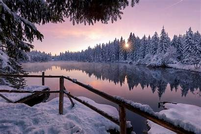 Winter Snow Nature Trees Wallpapers Outdoors Lake