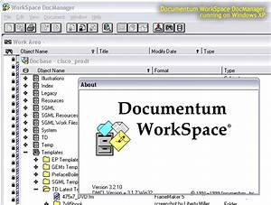 Documentum workspace about for Document management system documentum
