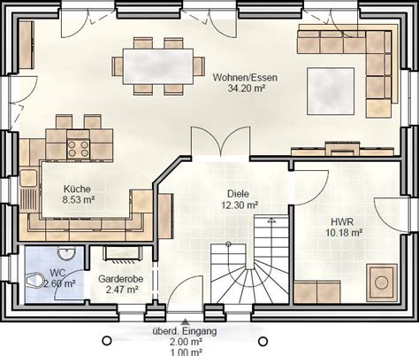 Einfamilienhäuser Grundrisse by Fam 130 Einfamilienhaus Als Satteldachhaus Landhaus
