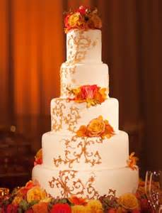 teal wedding decorations fall theme orange wedding cake wedding cake cake ideas