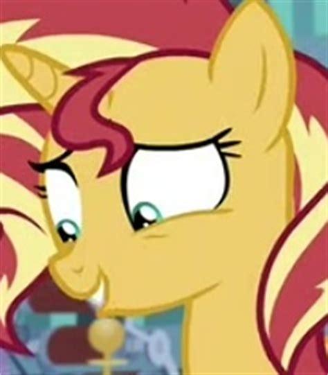 sunset shimmer voice   pony franchise