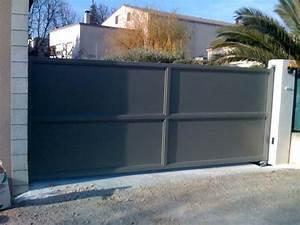 Portail En Fer Lapeyre : portail fer battant gris 650 488 portail pinterest ~ Premium-room.com Idées de Décoration