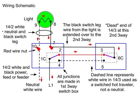 110v 3 Way Switch Wiring by 3 Way Switch Wiring Methods Dead End And Radical S3
