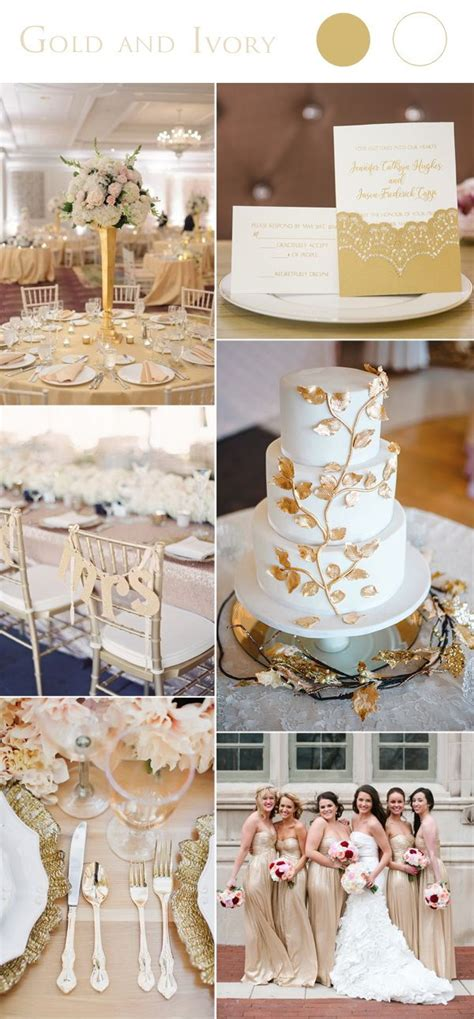 2017 Wedding Color Scheme Trends: Gold and Ivory Bridal