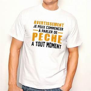 T Shirt Homme Blanc : t shirt homme blanc avertissement je peux commencer parler de peche tout moment ketshooop ~ Melissatoandfro.com Idées de Décoration