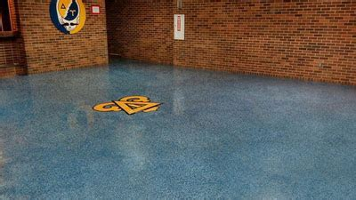 Epoxy Floor Designs & Logos Using Terrazzo