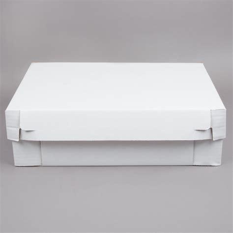 white corrugated  sheet cake bakery