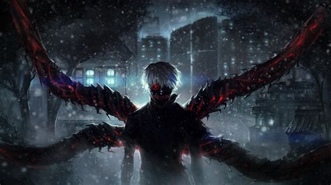 Artwork Anime Wallpaper 4k by Wallpaper Tokyo Ghoul Ken Kaneki Snow Artwork 4k 8k