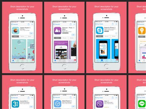 App Store Screenshots Sketch Freebie  Download Free