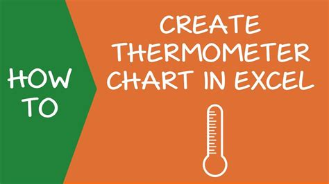 creating  thermometer chart  excel easy step  step