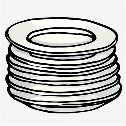 Plate Clipart Stack Heap Difference Memory Between