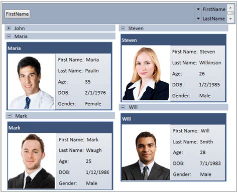wpf cardview control business card layout syncfusion