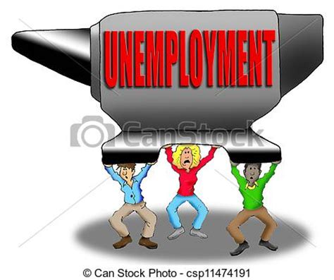 crushing unemployment cartoon image  people